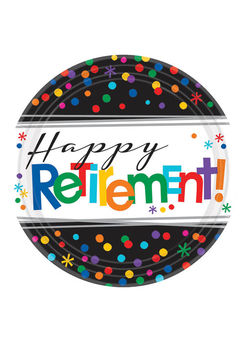 Happy Retirement Mini Plates 8pk