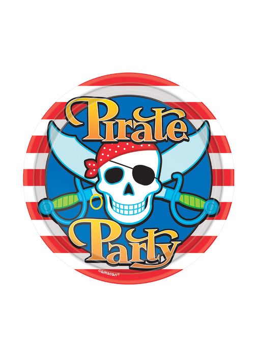 Pirate Skull Party Paper Plates 8pk