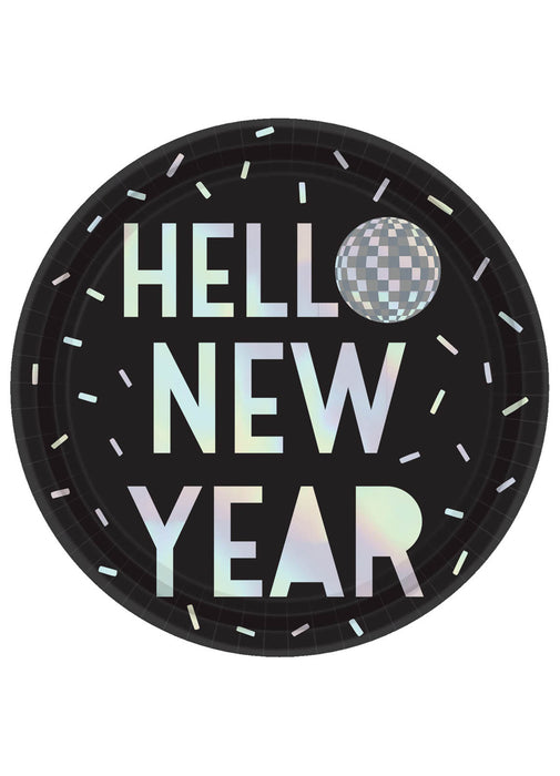 Disco Ball New Year Plates 8pk