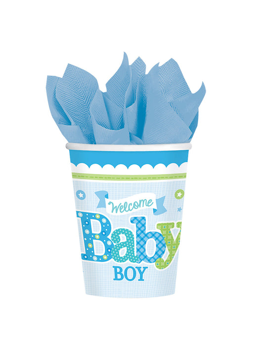 Welcome Baby Boy Cups 8pk