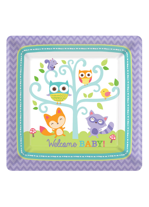 Woodland Welcome Plates 8pk