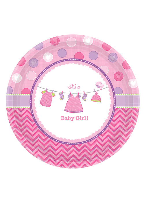 With Love Girl Plates 8pk