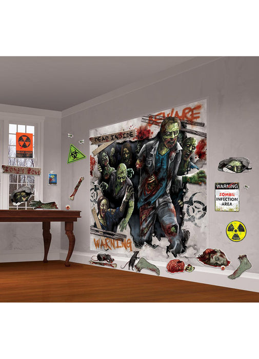 Zombie Wall Decorating Kit
