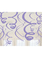 Purple Swirl Decorations 12pk