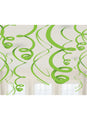 Green Swirl Decorations 12pk