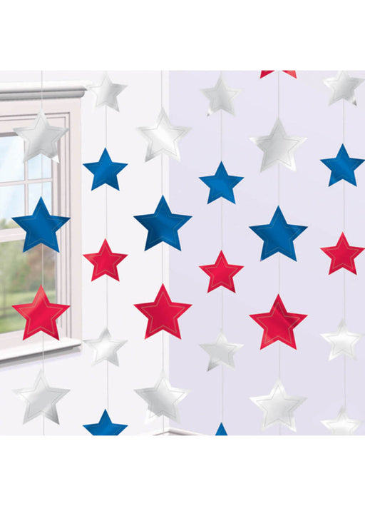 USA Star String Decorations