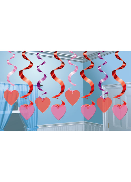 Valentines Day Streaming Swirls 15pk