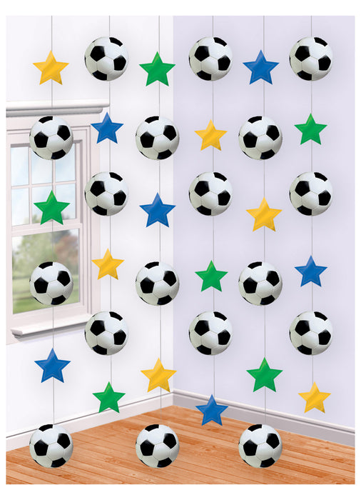 Football String Decoration 6pk