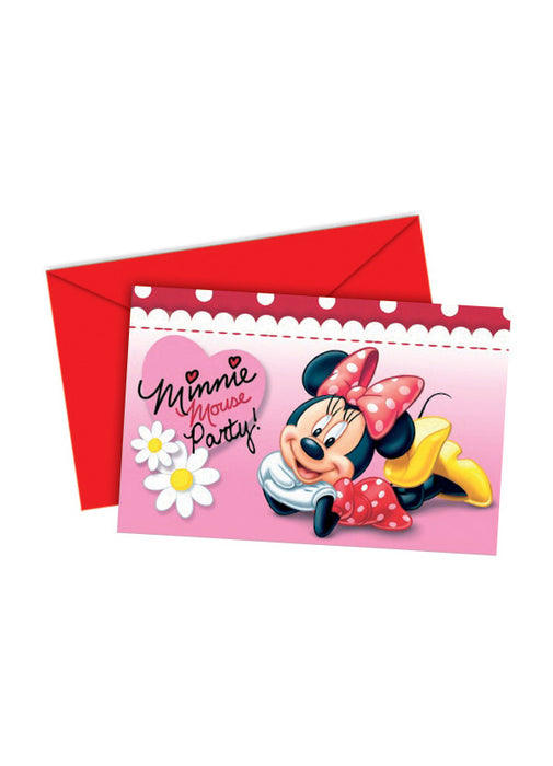 Minnie Mouse Party Invitations 6pk
