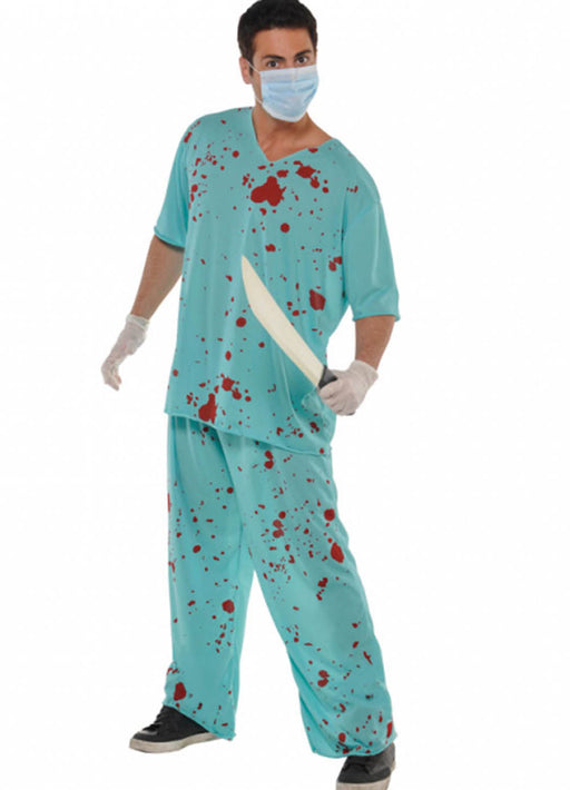 Bloody Doctor Scrubs Costume Adult