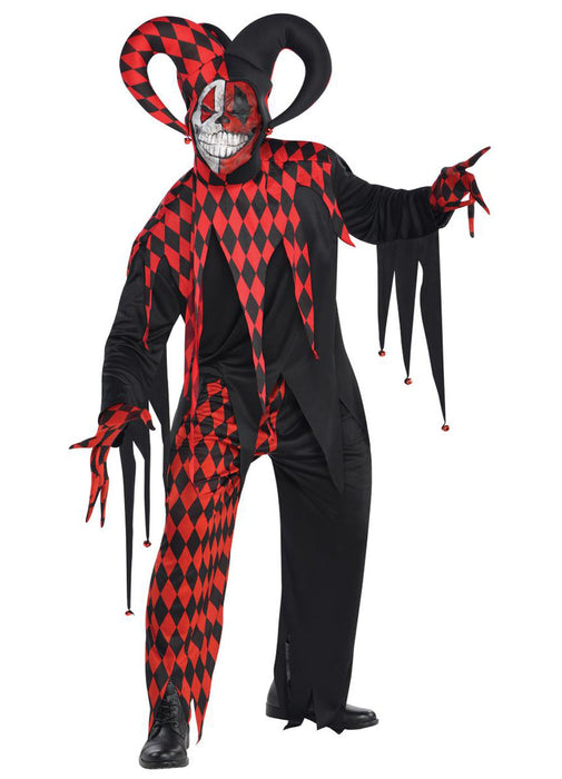 Krazed Jester Costume Adult