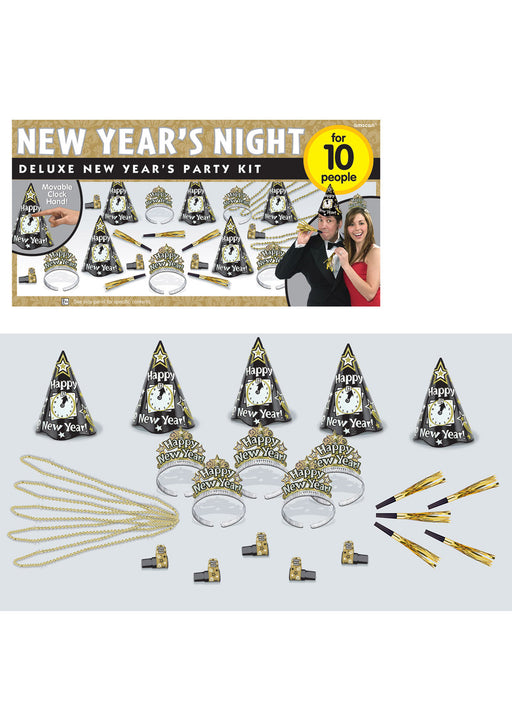 Deluxe New Year's Eve Party Kit for 10