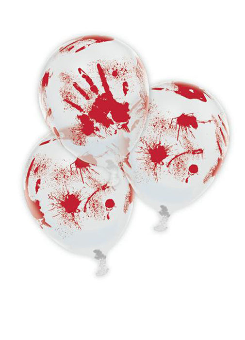 Bloody Hand Latex Balloons 6pk