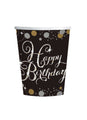Gold Celebration Happy Birthday Cups 8pk