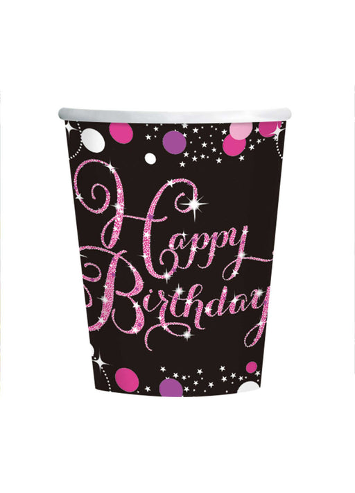 Pink Celebration Birthday Cups