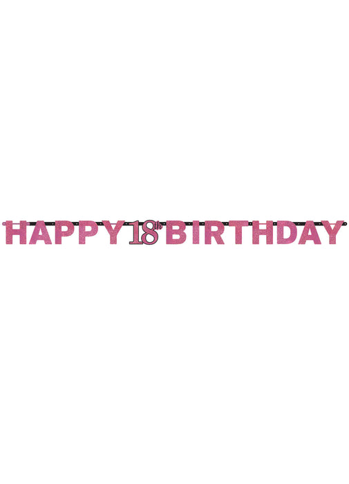 Pink Celebration 18th Birthday Letter Banner