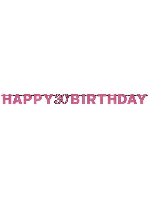Pink Celebration 30th Birthday Letter Banner