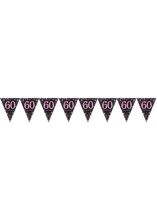 Pink Celebration 60th Birthday Bunting