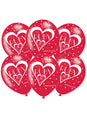 40th Ruby Anniversary Latex Balloons 6pk