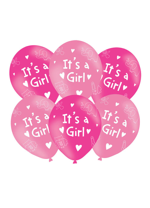 It's A Girl Latex Balloons 6pk