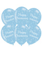 Christening Blue Latex Balloons 6pk