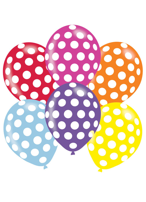 Polka Dot Latex Balloons 6pk