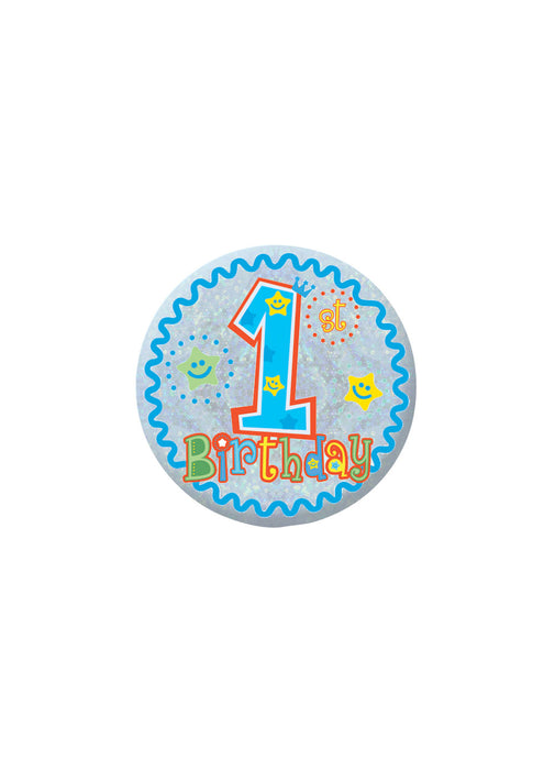 Happy 1st Birthday Blue Badge