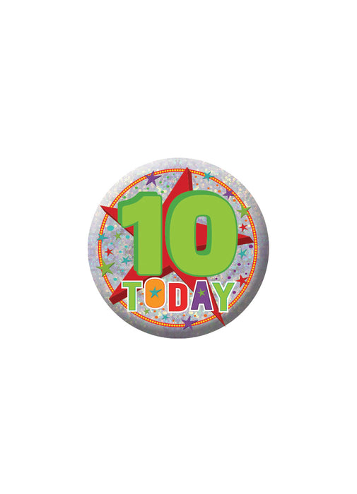 Happy 10th Birthday Badge