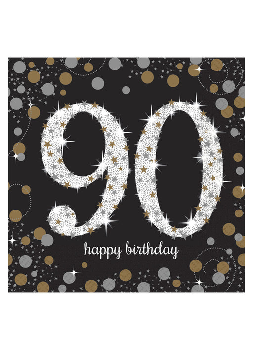 Gold Celebration 90th Birthday Napkins