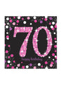 Pink Celebration 70th Birthday Napkins