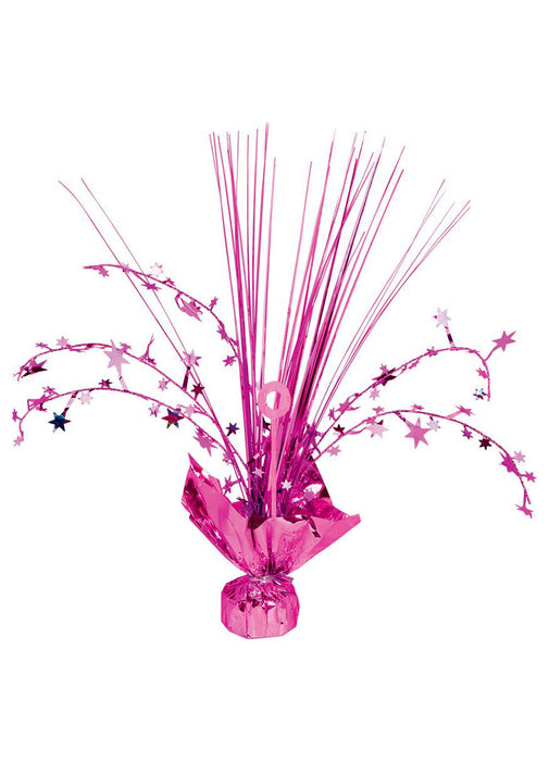 Magenta Balloon Weight Centerpiece