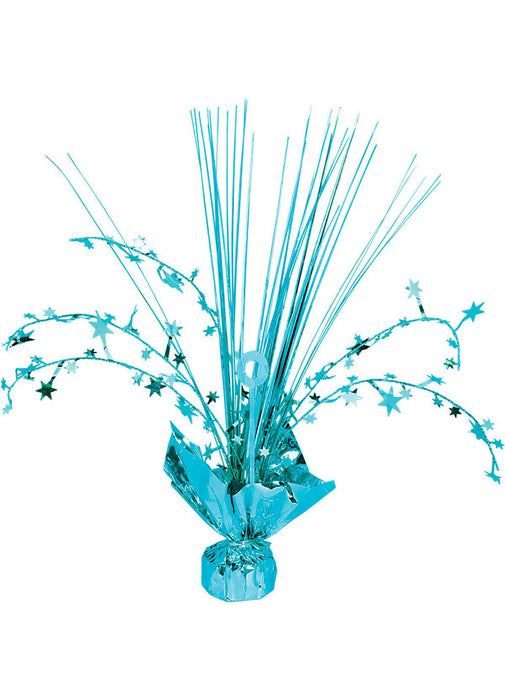 Light Blue Balloon Weight Centerpiece