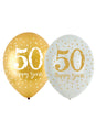 Golden Anniversary Latex Balloon 6pk