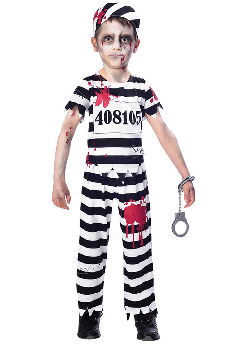Zombie Convict Boy Costume Child