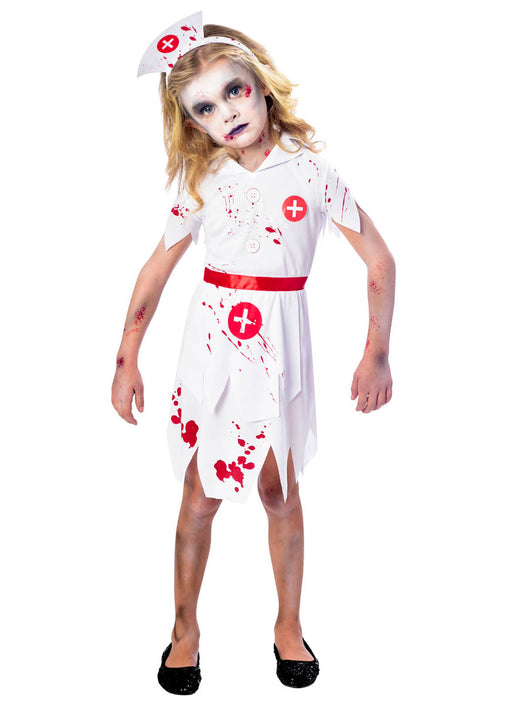 Zombie Nurse Costume Child