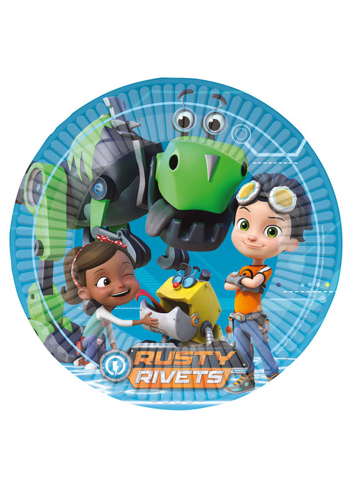 Rusty Rivets Plates 8pk