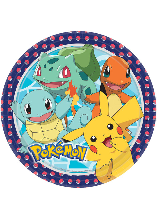 Pokemon Plates 8pk