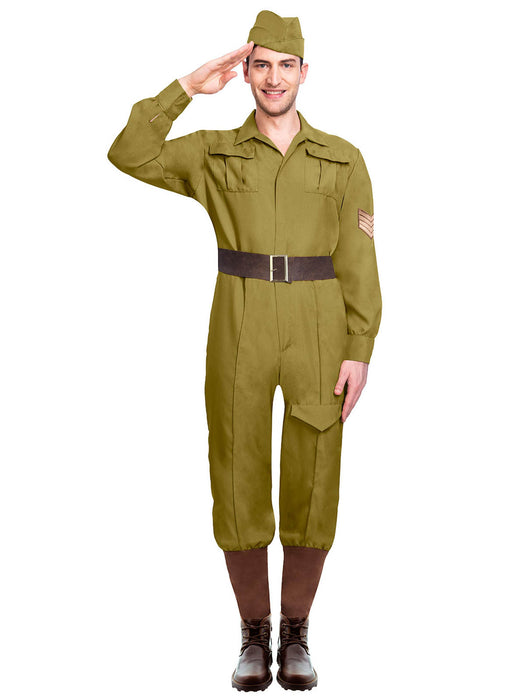Wartime Soldier Costume Adult