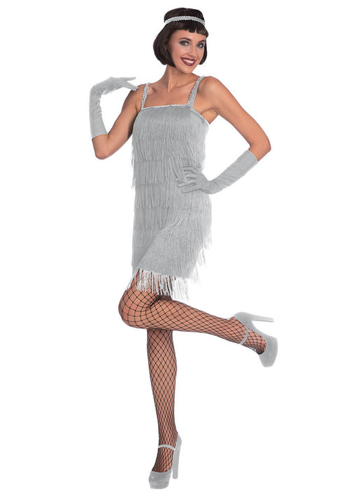 Silver Flapper Costume Adult