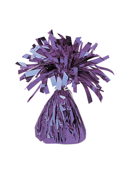 Purple Metallic Foil Balloon Weight