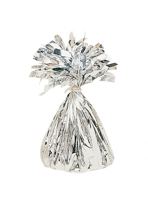 Silver Metallic Foil Balloon Weight