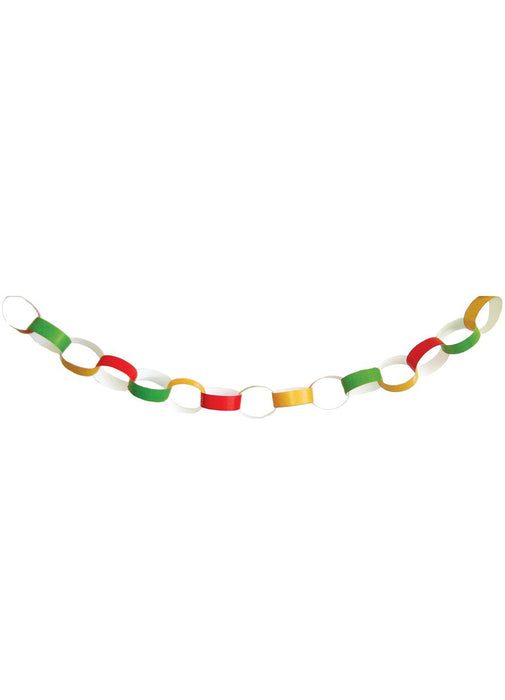 Red, Green & Gold Paper Chains