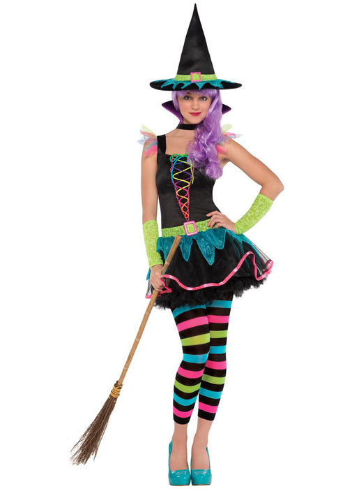 Neon Witch Costume Child