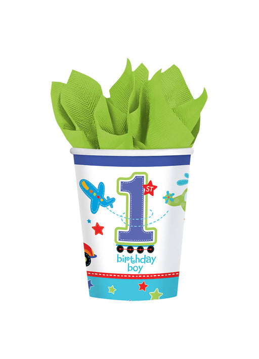 All Aboard 1st Birthday Cups 8pk