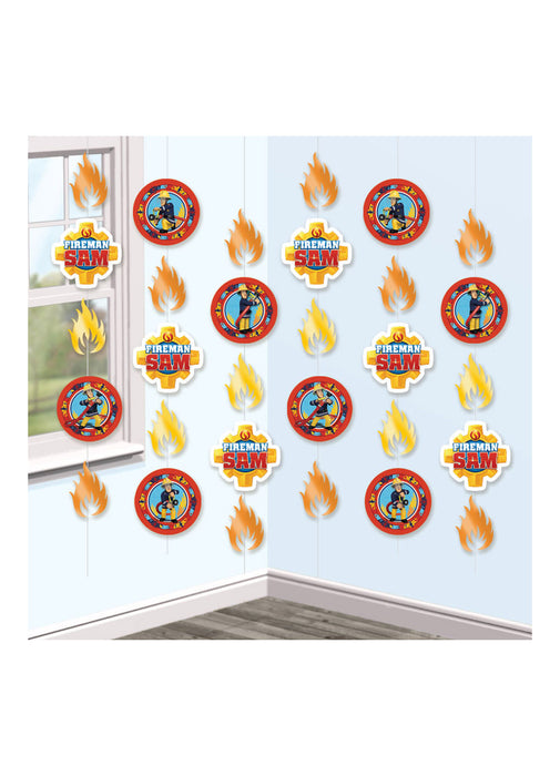 Fireman Sam String Decorations 6pk
