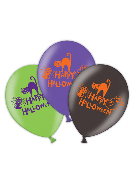 Happy Halloween Latex Balloons 6pk