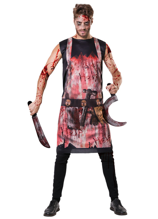 Bloody Butcher Apron Adult