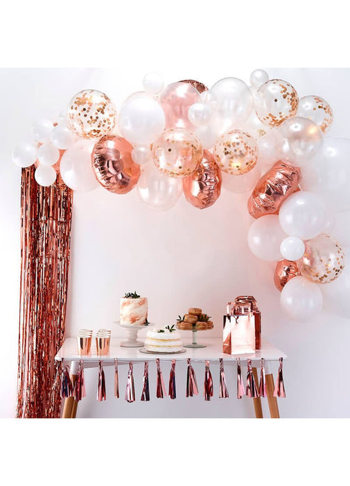 Rose Gold Balloon Arch DIY Kit
