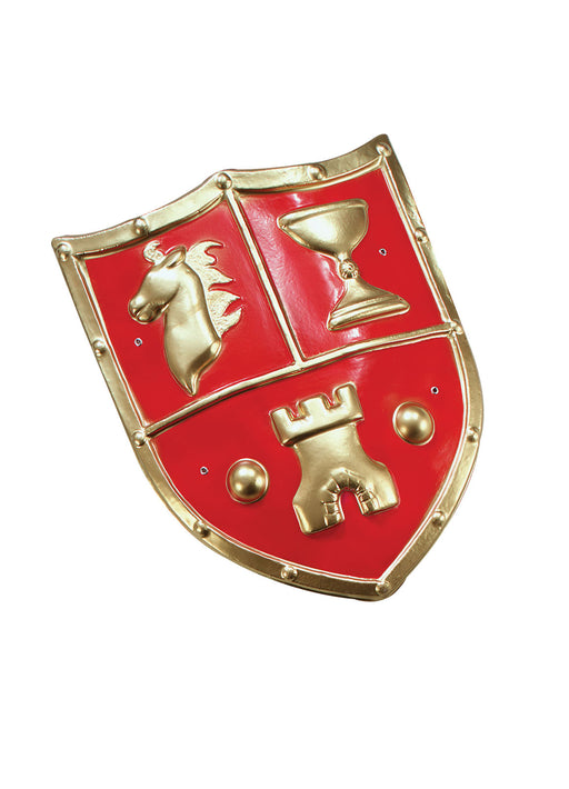 Red Medieval PVC Shield