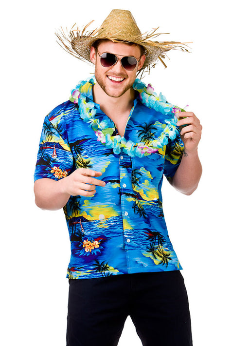 Hawaiian Blue Palm Tree Shirt